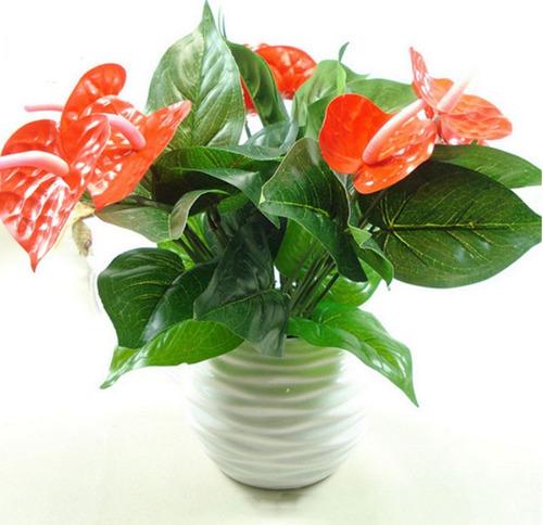 anturio artificial planta artificial decoración anturios