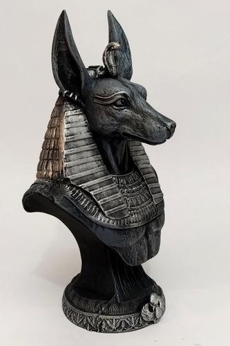anubis estatua em resina 23 cm