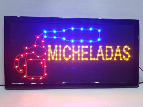 anuncio led luminoso micheladas 110v  envio incluido