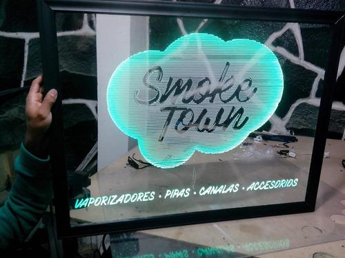 anuncio letrero acrilico led tipo neon peszonalizado