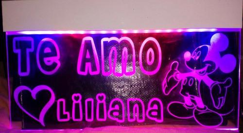 anuncio luminoso 60x30cm efecto neon envio gratis