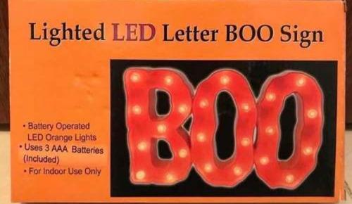 anuncio luminoso boo halloween