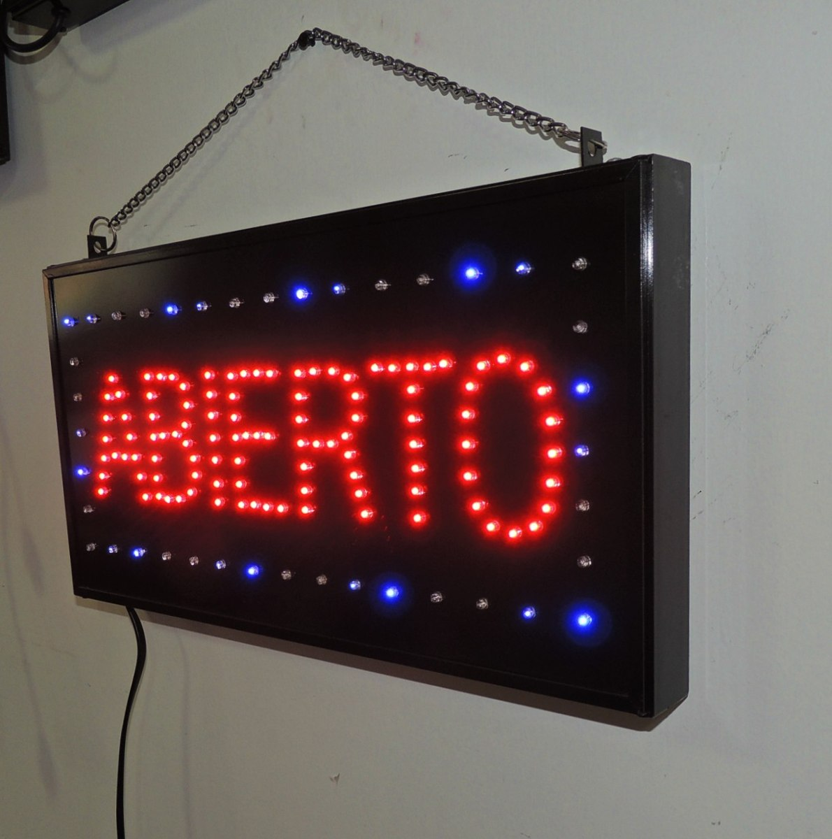 anuncio luminoso de led abierto letreros luminosos no