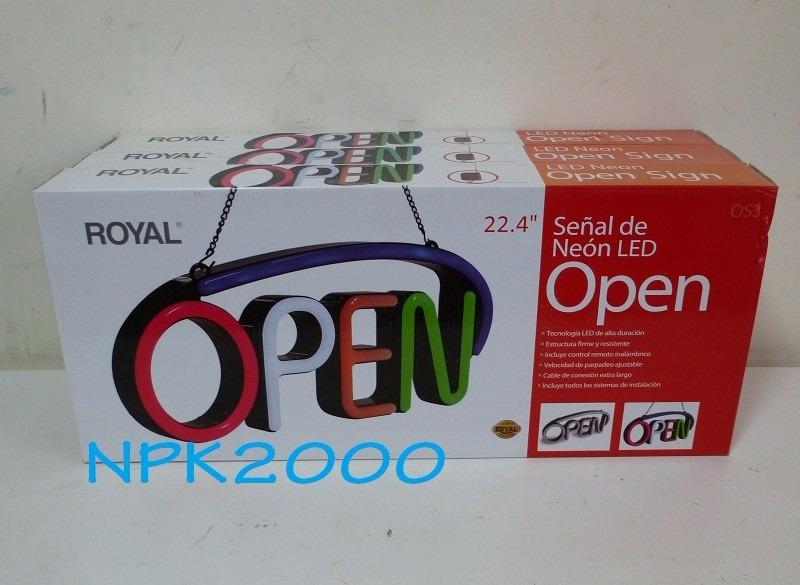 Letrero De Open: Anuncio Luminoso Led Letrero Open Control Remoto Flash