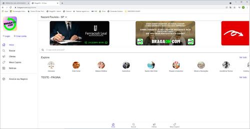 anúncio no site bragaon.com.br até 30/04/2022 - com hot site