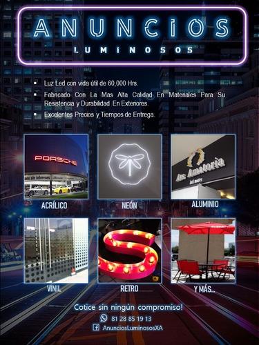 anuncios luminosos, letras 3d, neón, led, y más!