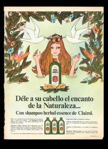 anuncios publicitarios shampoo vintage 1970