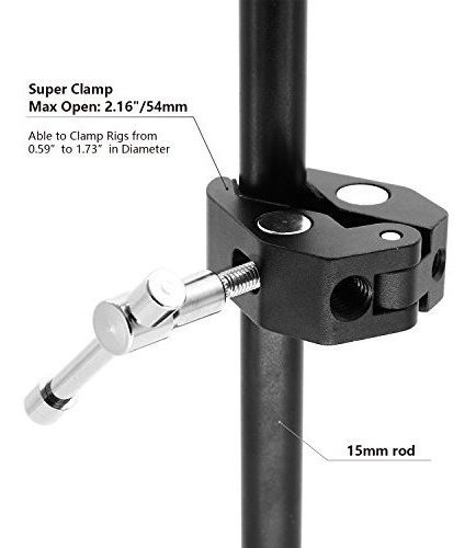 anwenk super clamp w / 1/4  -20 and 3/8  -16 thread for came