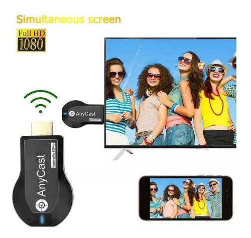 anycast mirascreen hdmi wifi dongle celular pc laptop a tv