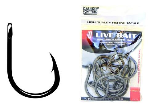 anzol live bait - 11/0 com 10 unidades marine sports