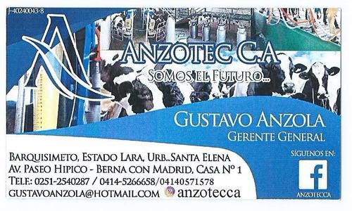 anzotec.c.a instalacion,ventas y servic de equipos de ordeño