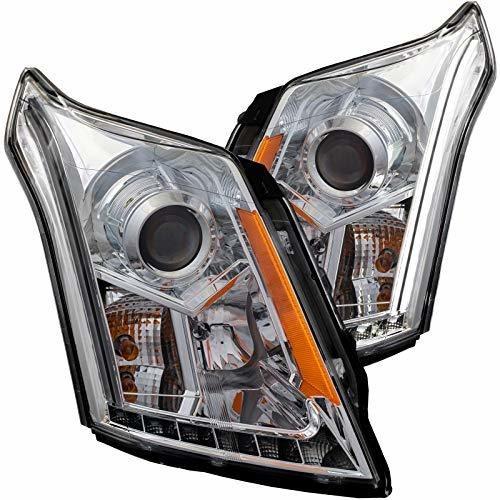 anzousa 111307 faro proyector cromado / transparente / ambar