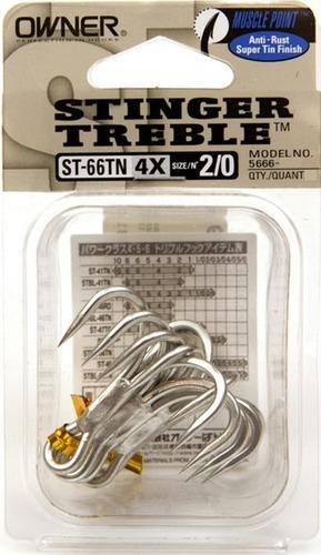anzuelo tripleta para pesca st-66 4x owner 1,2,4,1/0,2/0