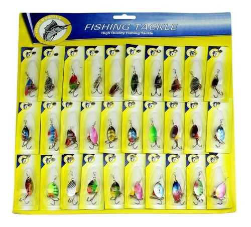 anzuelos mariposa para pesca 30 unidades