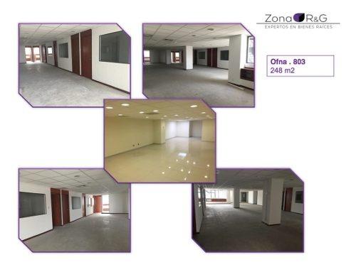 anzures, oficinas de 186m2 a 735m2 con aire acondicionado, listas para entrega