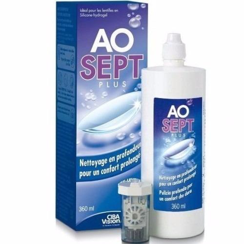 ao sept plus solución limpiadora pupilentes 360ml solotica