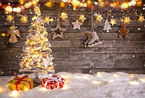 Aofoto 5x3ft Navidad Luz De Fondo Decorado Año Nuevo árbol