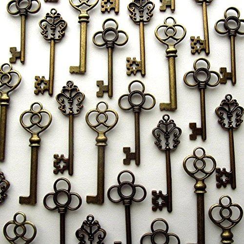 aokbean conjunto mixto de 30 llaves maestras de la vendimia