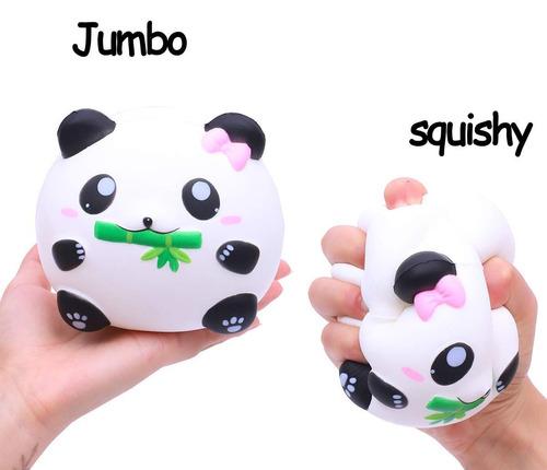 aolige 2 piezas squishies jumbo kawaii panda lindo perfumado