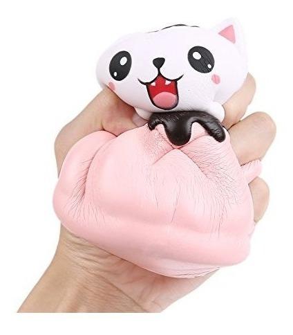 aolige squishie jumbo rosado lindo del gato de kawaii pan cr