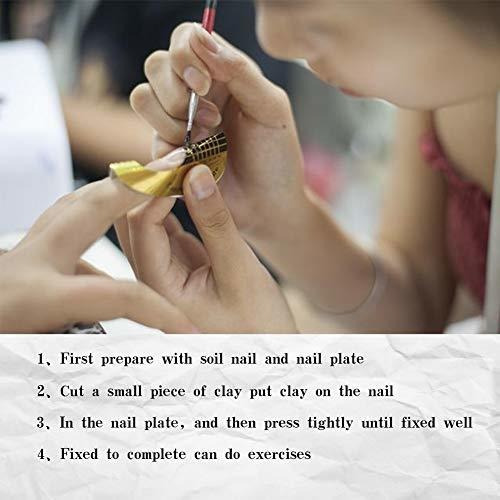 aoraem nail trainning practica mano flexible plastico suave