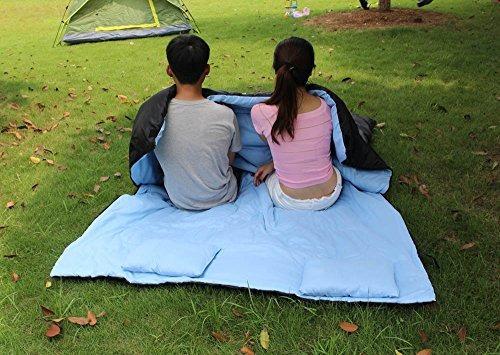 aotu 86 \x60\ doble saco de dormir térmico 2 personas al ai
