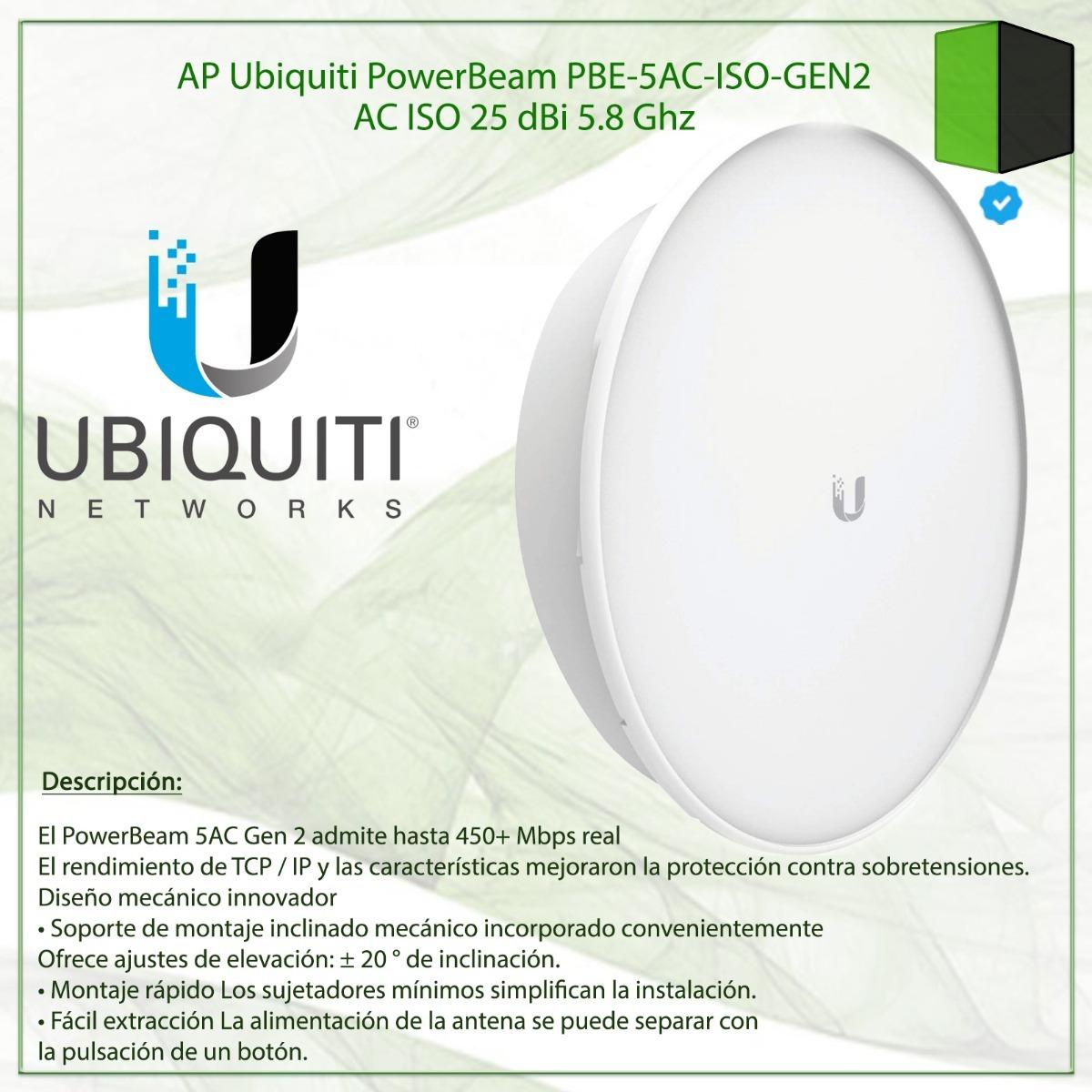 Ap Ubiquiti Powerbeam Pbe-5ac-iso-gen2 Ac Iso 25 Dbi 5 8 Ghz