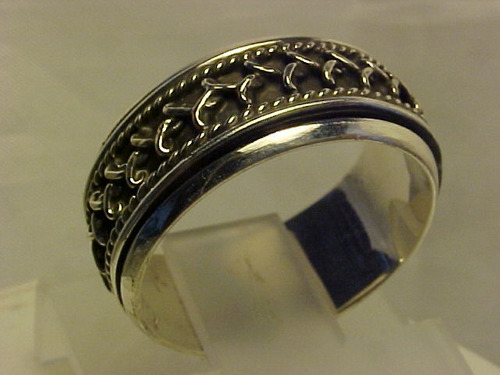 #ap035683n -  anel giratório em prata 925