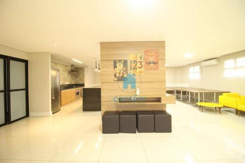 ap0719 - apartamento com 2 dormitórios à venda, 65 m² por r$ 320.000 - quitaúna - osasco/sp - ap0719