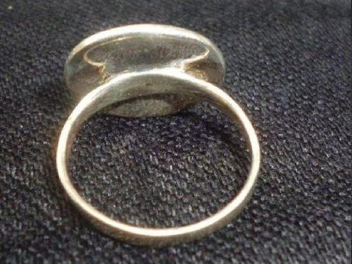 ap111 hermoso anillo de plata con onix talla 6,5