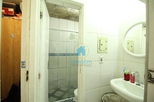 ap1312- apartamento com 2 dormitórios à venda, 52 m² por r$ 180.000 - conjunto habitacional presidente castelo branco - carapicuíba/sp - ap1312