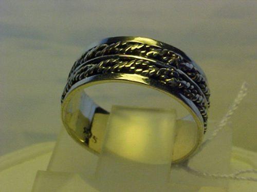 @@ap243956n - aliança em prata com 7mm de espessura aro 17