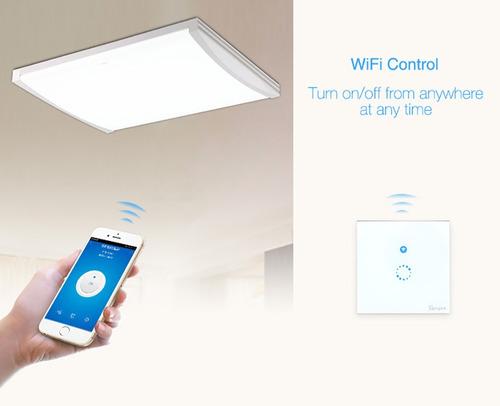 apagador de pared touch y wifi - sonoff touch