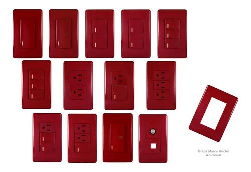 apagadores y contactos (rojo y negro)placas solaris elegance