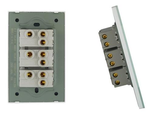 apagadores y contactos v-10 solaris placas armadas, acrílico
