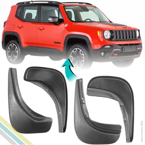 aparabarro lameira jeep renegade 2015 kit 4 peças