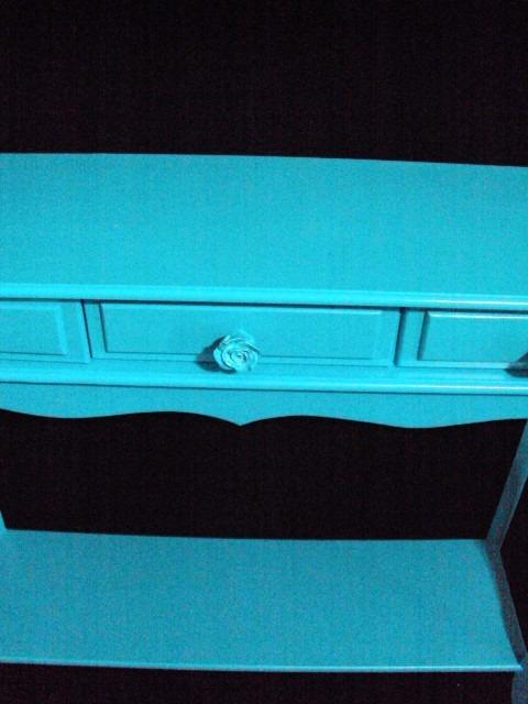 aparador gavetas pintura azul turquesa super lindo