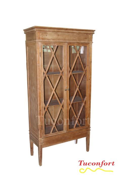 Aparador armario biblioteca con puertas madera maciza - Armarios de madera maciza ...
