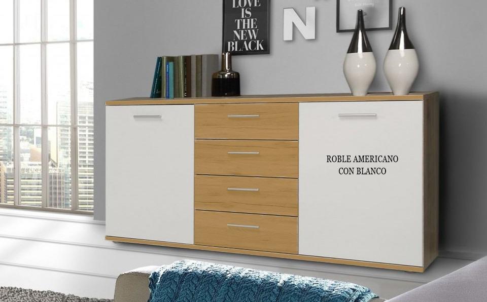 Aparador Bahiut Vajillero Moderno 1,50mts Living Comedor - $ 6.906 ...