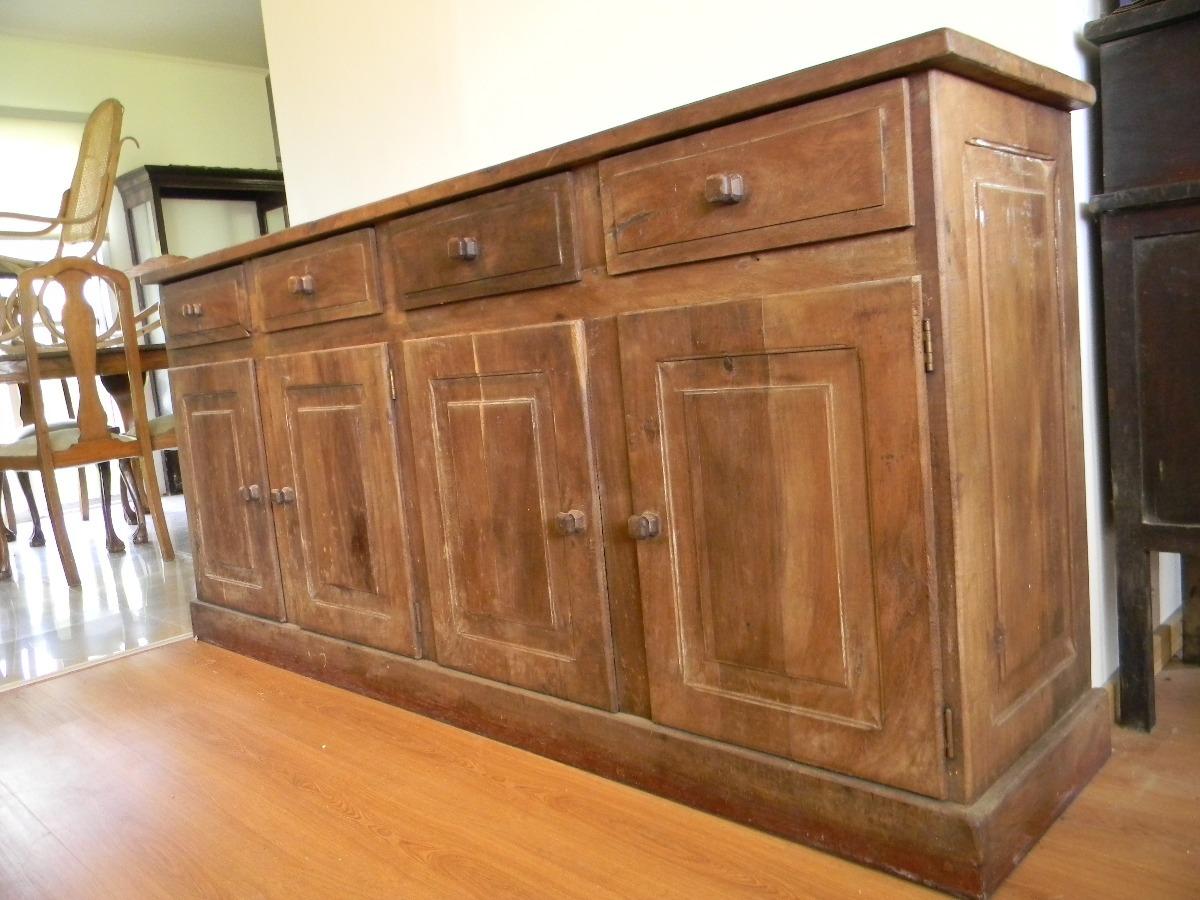 Aparador Bajo De Algarrobo 2,00mts Mueble De Cocina Barra - $ 5.500 ...
