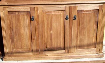 aparador bajo rustico estilo campo madera maciza 120x90x40