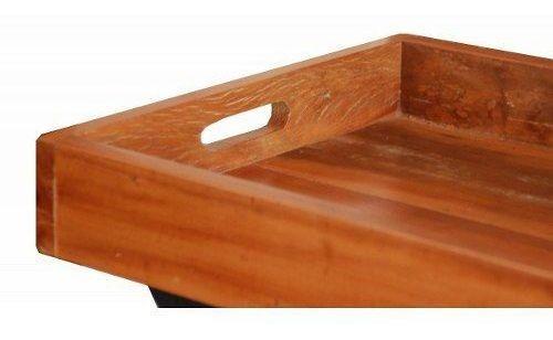 aparador bandeja 0,80 x 0,40 em madeira de demolição