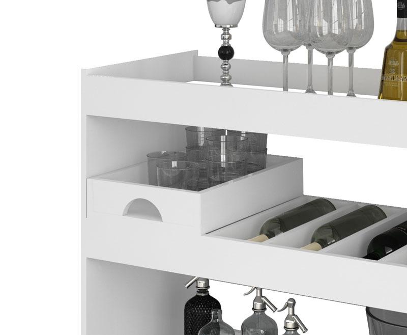 Armario Embutido Cozinha ~ Aparador Bar Adega Jb 4030 Branco Jb Bechara R$ 269,99