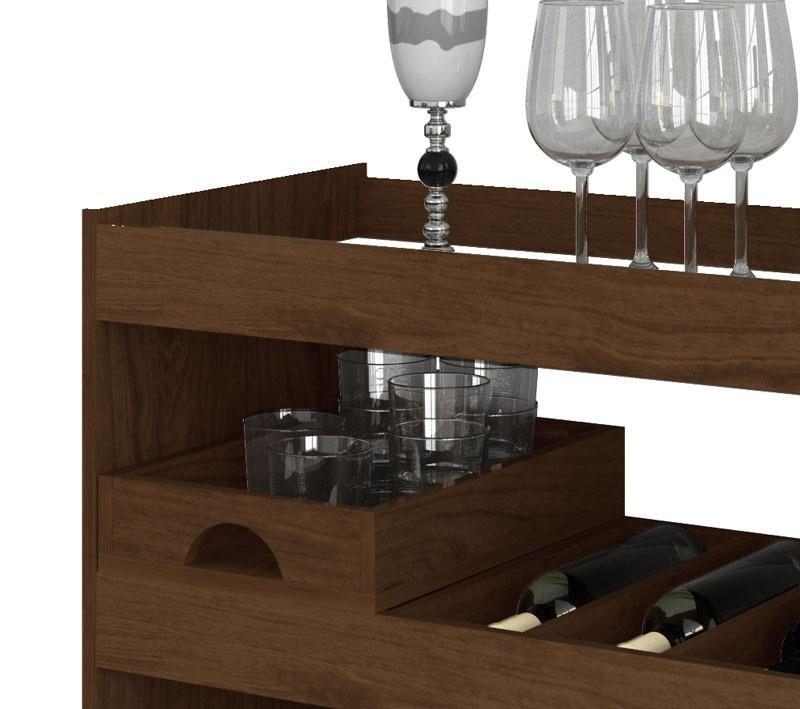 Artesanato Argila Passo A Passo ~ Aparador Bar Adega Jb 4030 Imbuia R$ 269,99 em Mercado