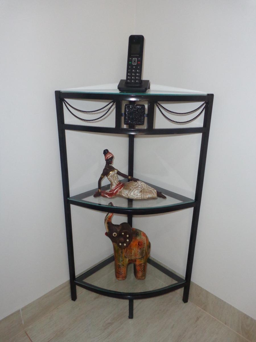 Aparador Tabaco Com Tampo De Vidro ~ Aparador Canto Em Ferro Com 3 Divis u00e3o Sem Vidro Ouro Velho R$ 109,90 em Mercado Livre