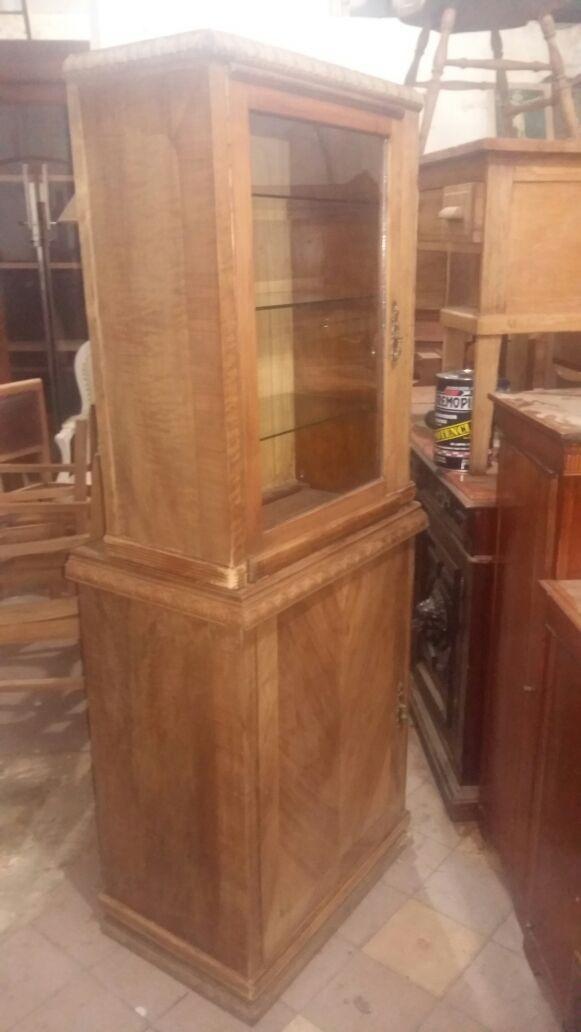 Aparador Con Cristalero Antiguo Muebles Living Comedor 550000