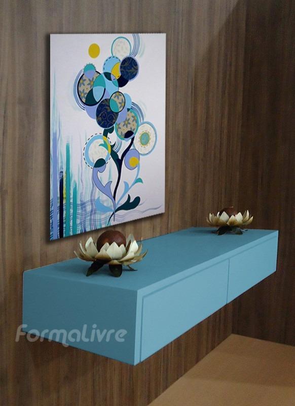 Armario Modular Infantil Ikea ~ Aparador Console Penteadeira Quarto Sala Hall Azul Laca R$ 468,00 em Mercado L