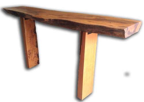 aparador contemporâneo em madeira - tronco / tora rústico