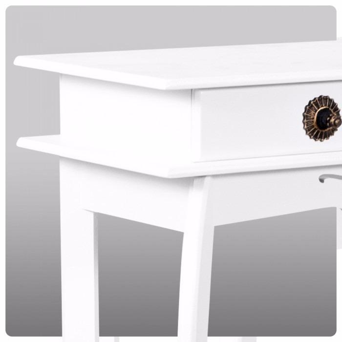 Aparador Sofa ~ Aparador Entalhado Com 2 Gavetas Cor Branco Em Mdf R