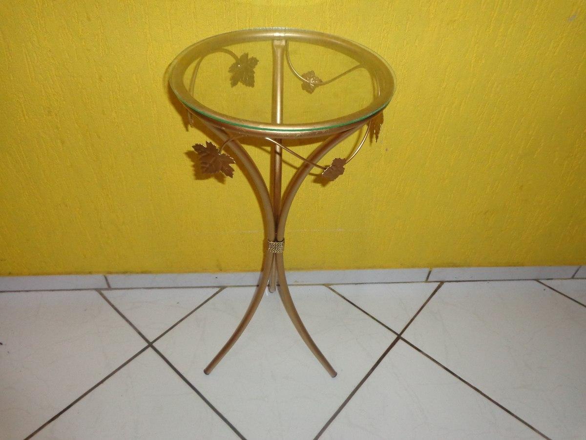 Aparador De Ferro Com Vidro Redondo ~ Aparador De Ferro 30cm Di u00e2metro 80cm Alt Cor Ouro R$ 79,80 em Mercado Livre